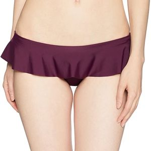 Milly ruffle top bottoms plum purple nwt